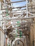 Alley in Molfetta Oldtown. Apulia. Royalty Free Stock Image