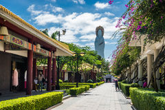 Alley in Nanshan temple royalty free stock images