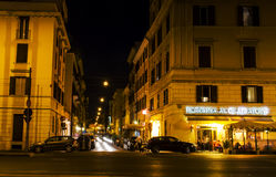 Alley near Colosseum at night stock photography