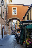 Alley near Piazza Del Popolo Stock Photography