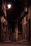 An alley by night Stock Image