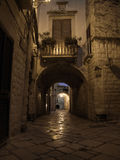 Alley by night. Giovinazzo. Apulia. Royalty Free Stock Images