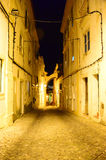 Alley in the night Royalty Free Stock Photos