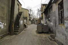 Alley. Old alleys of China street Stock Photo