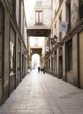 Alley of the old Barcelona. Stock Images