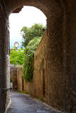 Alley With Old Buildings In Italian City Royalty Free Stock Photography