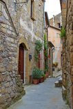 Alley With Old Buildings In Italian City Stock Photos