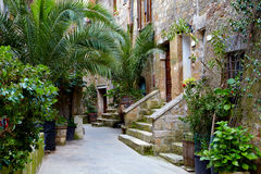 Alley With Old Buildings In Italian City Stock Photography