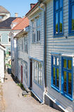 Alley with old  houses Royalty Free Stock Photos