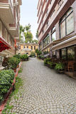 Alley on old istanbul town. Royalty Free Stock Images