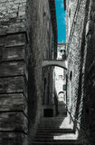 Alley in old stone town in Italy. Alley in old stone town (Italy Royalty Free Stock Images