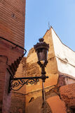 Alley with an old street lantern in Marrakesh Stock Photography
