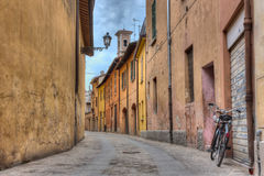 alley in the old town of Imola, Italy Stock Image