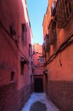 Alley in the old town of Marrakesh Royalty Free Stock Photography