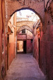 Alley in the old town of Marrakesh Royalty Free Stock Photos