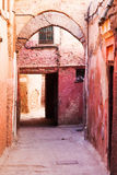 Alley in the old town of Marrakesh Stock Photography