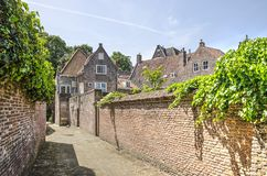 Alley in the old town of Middelburg stock photos