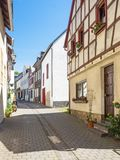 Alley in the old town of Muenstermaifeld in Rhineland-Palatinate Royalty Free Stock Photo