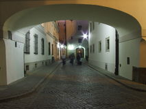 Alley in Old town in Warsaw, Poland Stock Image