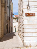 Alley in Oldtown of Molfetta. Apulia. Stock Photo