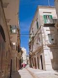 Alley in Oldtown of Molfetta. Apulia. Stock Photo
