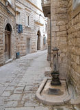 Alley in Oldtown of Molfetta. Apulia. Royalty Free Stock Images