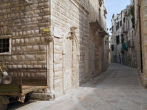 Alley in Oldtown of Molfetta. Apulia. Stock Photography