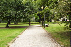 Alley in a park Royalty Free Stock Photos
