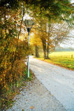 Alley in the park on Chiemsee island Stock Image