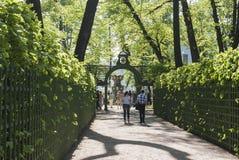 Alley in Park Summer Garden. 05 June 2016 in Saint Petersburg, Russia Stock Image