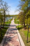 Alley in the park Tsaritsyno Stock Images