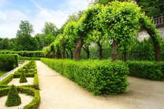 Alley Park in the Wurzburger Residenze. Germany Stock Image