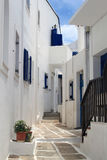Alley of Paros, Greece Royalty Free Stock Photography