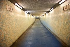 Alley Photography of Grey Walkway Royalty Free Stock Photography