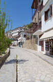 Alley in the picturesque village of Makrinitsa, Pelio, Greece Royalty Free Stock Images