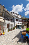 Alley in the picturesque village of Makrinitsa, Pelion, Greece Royalty Free Stock Photo