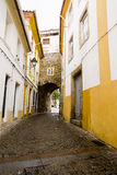 Alley Portalegre Portugal. Stone alley in Portalegre Portugal royalty free stock images