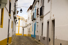 Alley Portalegre Portugal. Stone alley in Portalegre Portugal Royalty Free Stock Photography