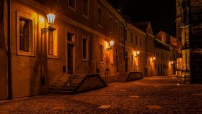 Alley at the Prague Castle. Hradcany Stock Photo