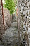 Alley in Praiano Amalfi Coast Italy Stock Photo