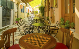 Preveza city alley greece Royalty Free Stock Photo