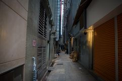 Alley in Hong Kong. royalty free stock images