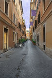 Alley of Rome in old center town Royalty Free Stock Images