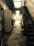 Alley, Ruins, Building, Darkness stock image