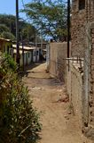 Alley. A rustic, local alley behind the beaches of Mancora, Peru Royalty Free Stock Photography