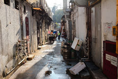 Alley in sai kung Royalty Free Stock Photo