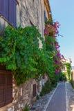Alley in Saint Paul de Vence, France stock photo
