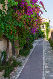Alley in Saint Paul de Vence, France royalty free stock image