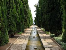 Alley by the sea. In Balchik, Bulgaria Royalty Free Stock Photography