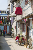 Alley in shanghai old town china Royalty Free Stock Photo